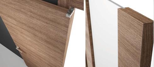 Brown door Material Tabaco 3 πόρτα καφέ ανάγλυφη Loft mylofteu