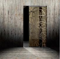 aura color crystal sliding door συρόμενη κρυστάλλινη πόρτα Loft mylofteu
